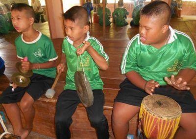 Music lesson students TCDF Special School
